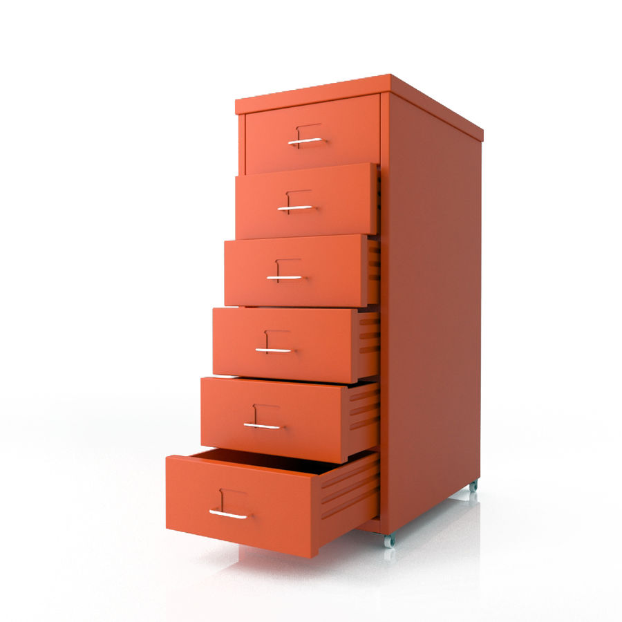 IKEA Helmer - drawer royalty-free 3d model - Preview no. 4