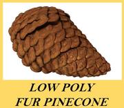 Low Poly Pinecone Fir Cone 3d model