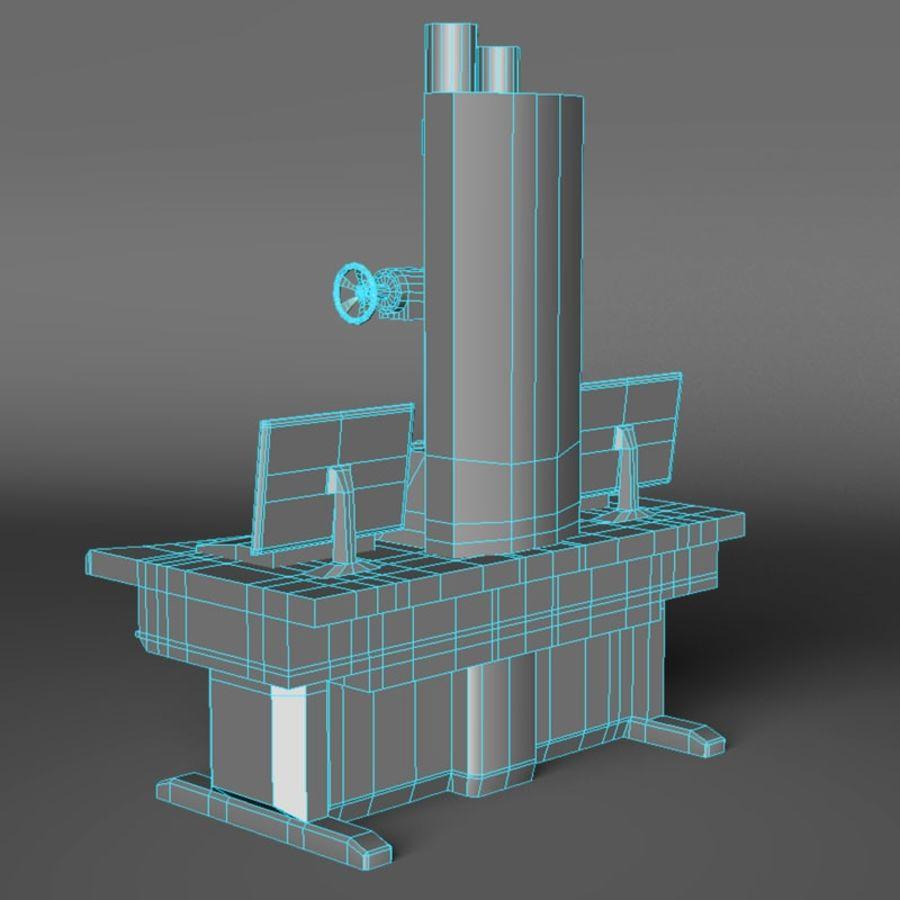Microscopio elettronico royalty-free 3d model - Preview no. 8