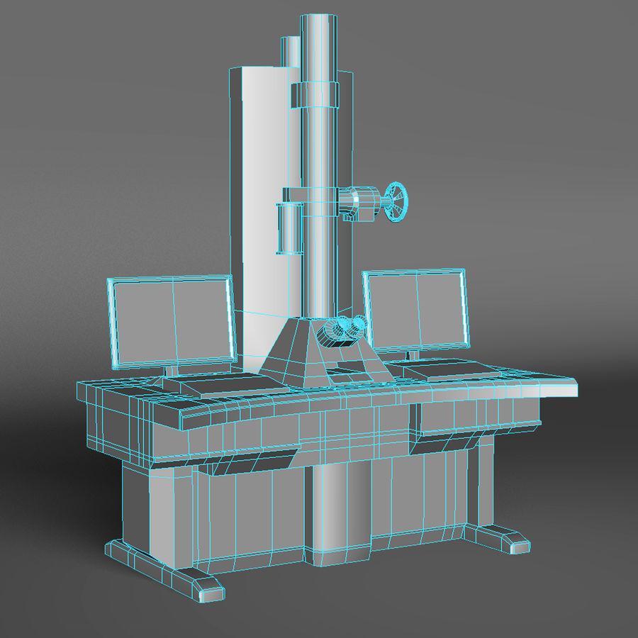 Microscopio elettronico royalty-free 3d model - Preview no. 2