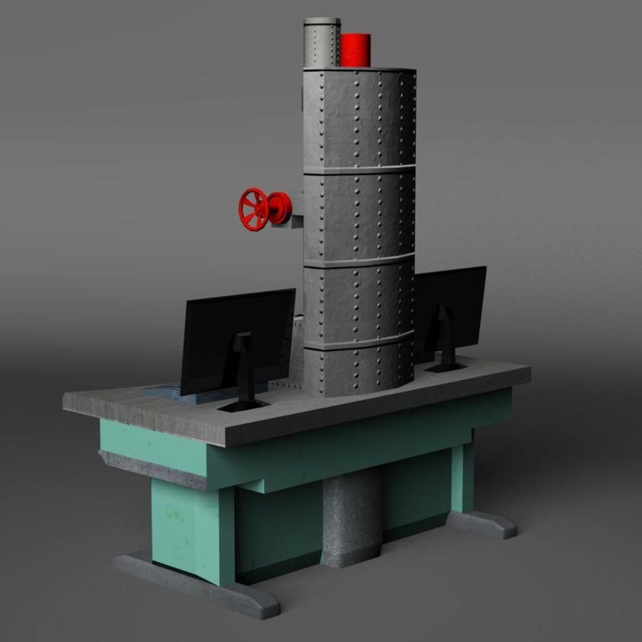 Microscopio elettronico royalty-free 3d model - Preview no. 7