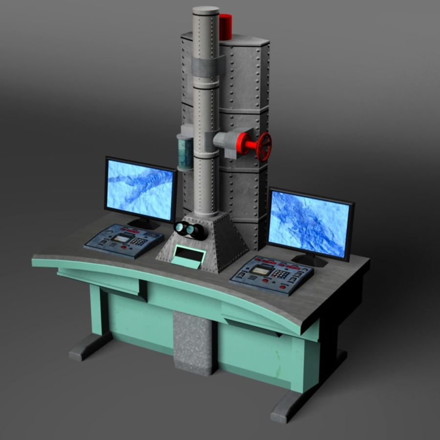 Microscopio elettronico royalty-free 3d model - Preview no. 4