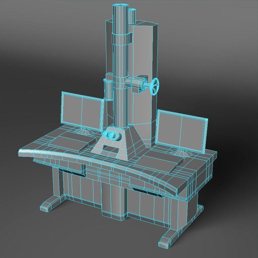 Microscopio elettronico royalty-free 3d model - Preview no. 5