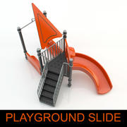 High quality children Playground slide 3d model