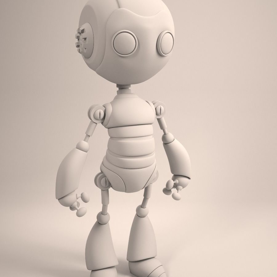 Robot royalty-free 3d model - Preview no. 5