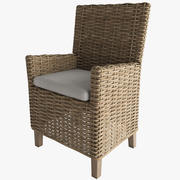ANTILLES RATTAN ARMCHAIR 3d model