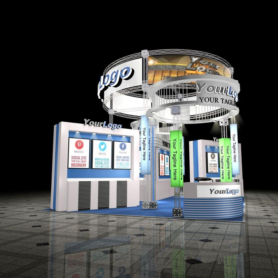 3d Exhibition Model : Customizable exhibition set d model max free d