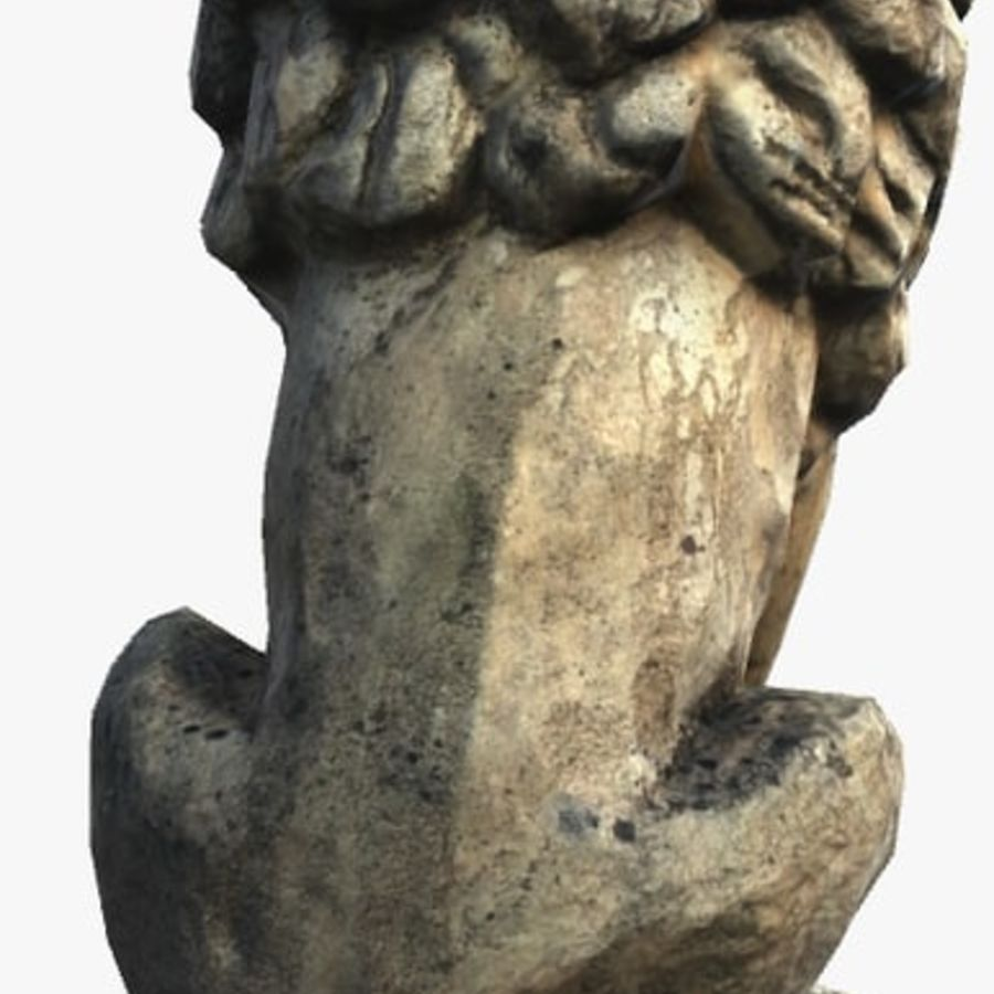 Lion Statue royalty-free 3d model - Preview no. 4