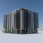 Modern Apartment City Building HD Cityscape Tile 4 3d model