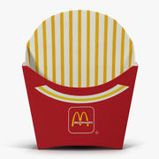 Empty French Fry Box McDonalds 3d model