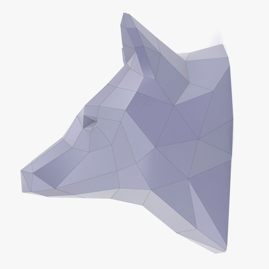 Wolf Papercraft royalty-free 3d model - Preview no. 5