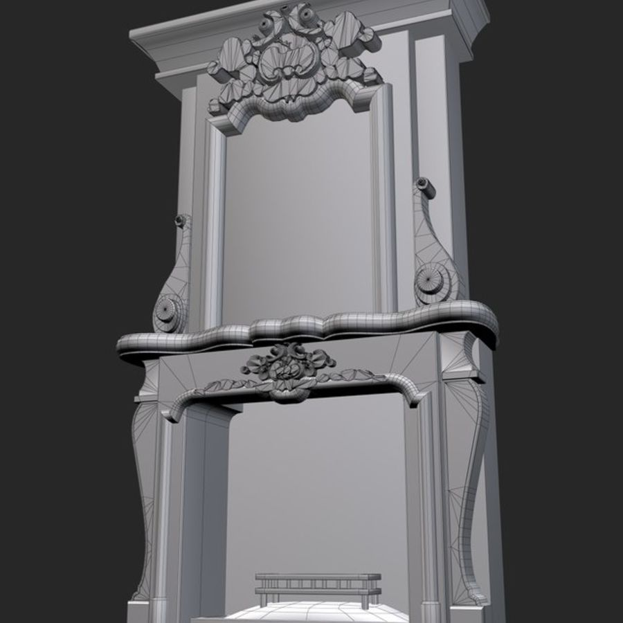 Stone Fireplace royalty-free 3d model - Preview no. 3