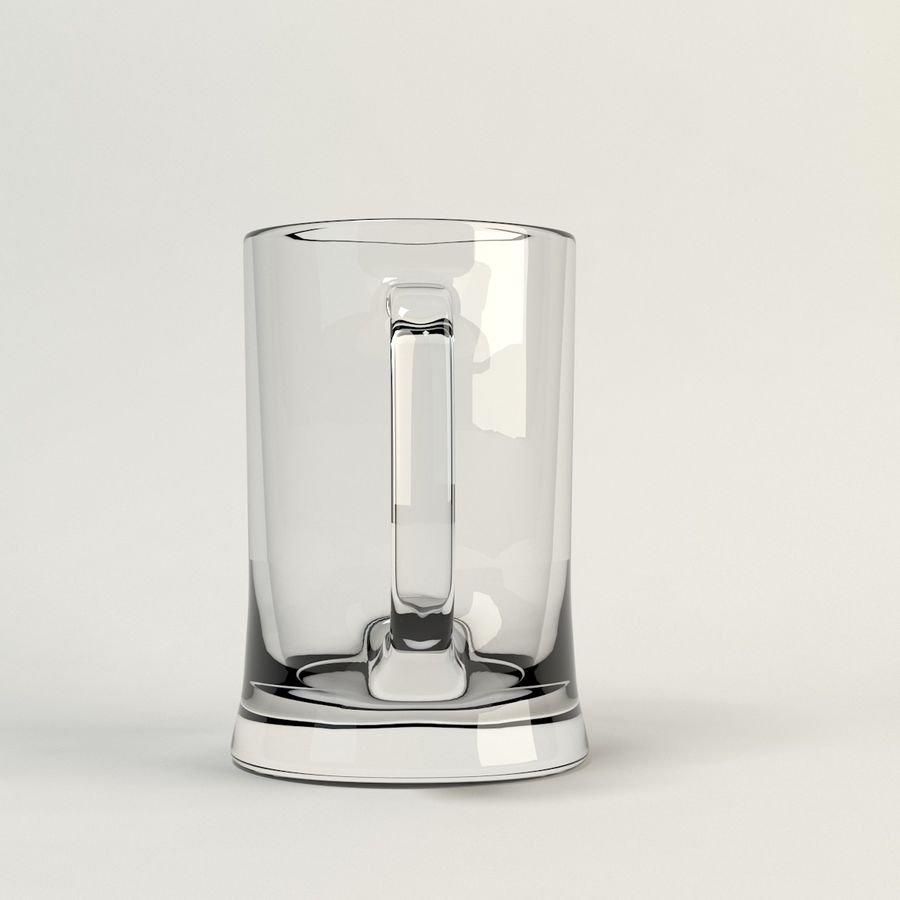 clear beer glass royalty-free 3d model - Preview no. 3