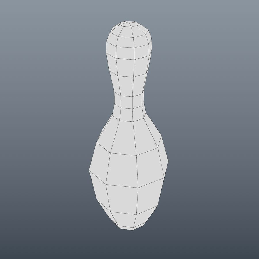 Bowling Pin royalty-free 3d model - Preview no. 5
