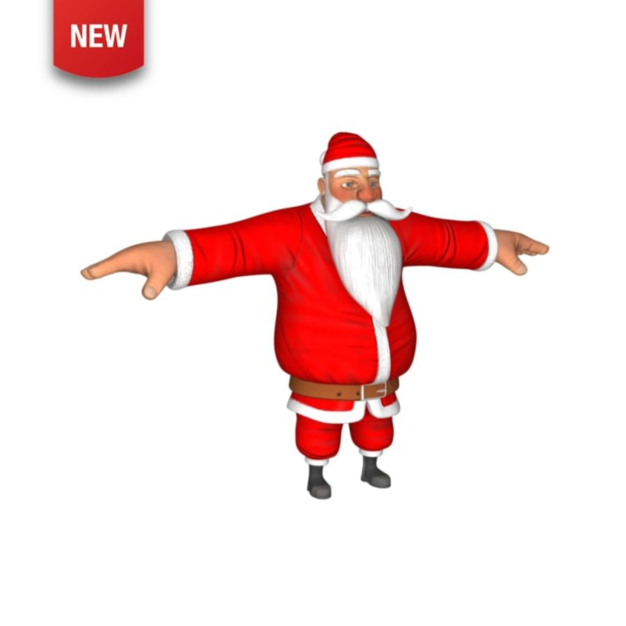 santa claus royalty-free 3d model - Preview no. 1