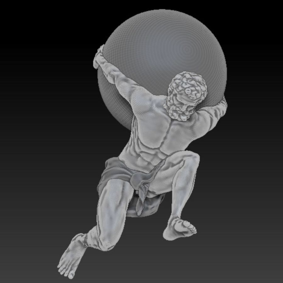Atlas statue royalty-free 3d model - Preview no. 1