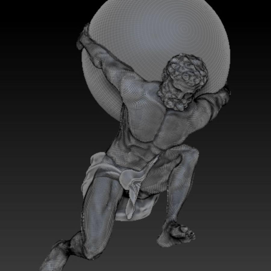 Atlas statue royalty-free 3d model - Preview no. 2