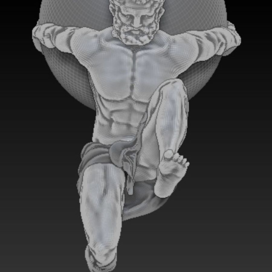 Atlas statue royalty-free 3d model - Preview no. 9