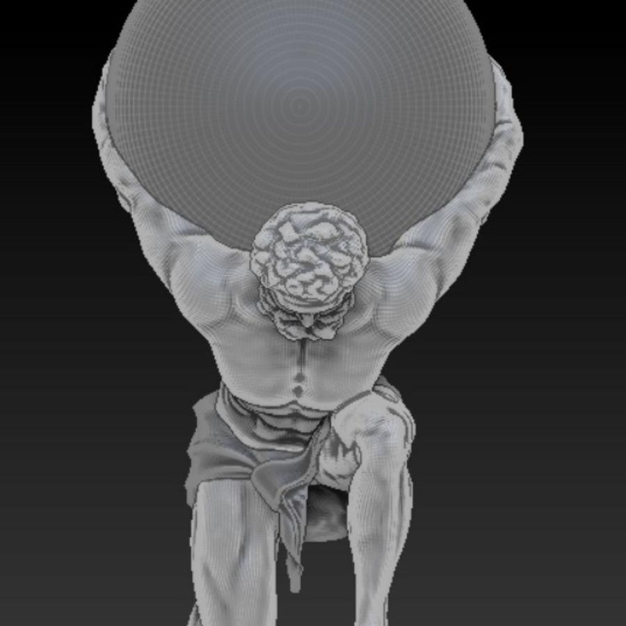 Atlas statue royalty-free 3d model - Preview no. 3