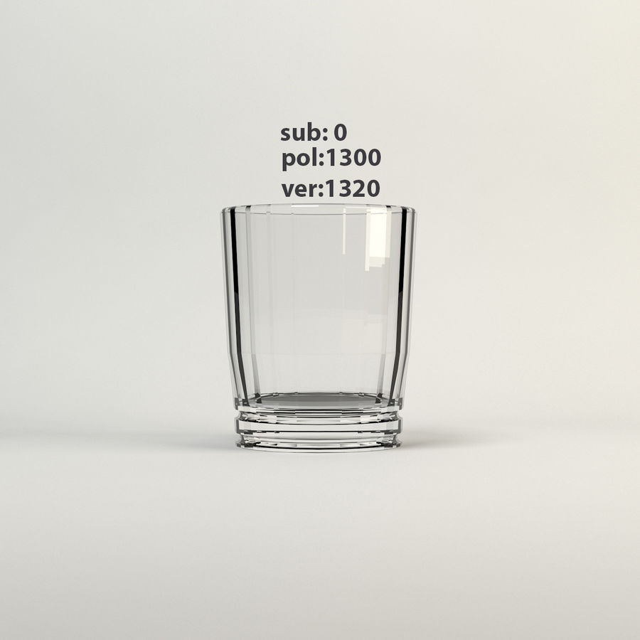 sauberes Glas royalty-free 3d model - Preview no. 6