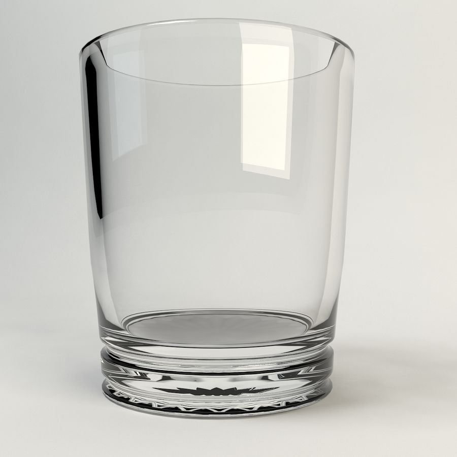 sauberes Glas royalty-free 3d model - Preview no. 1