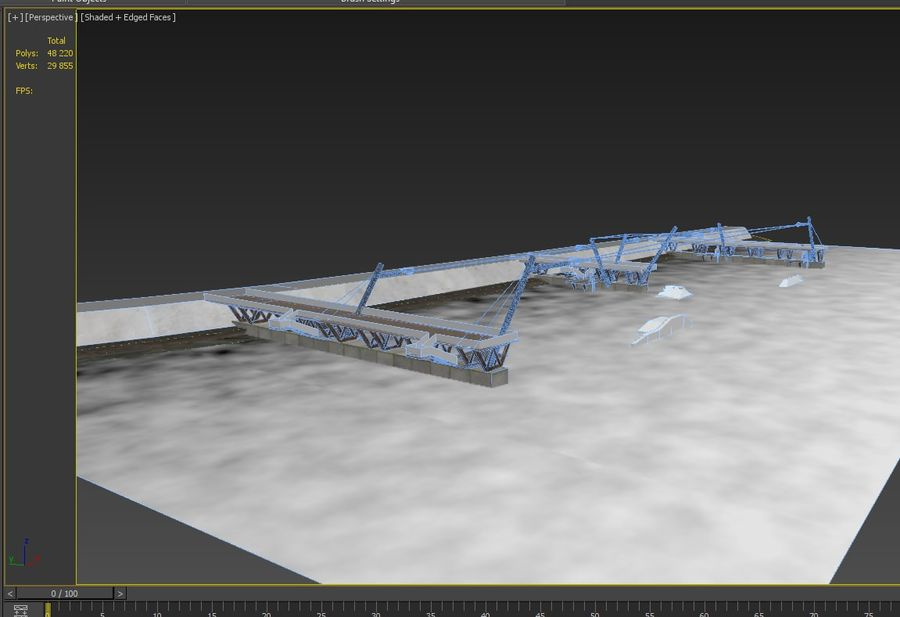 wakeboard station royalty-free 3d model - Preview no. 15