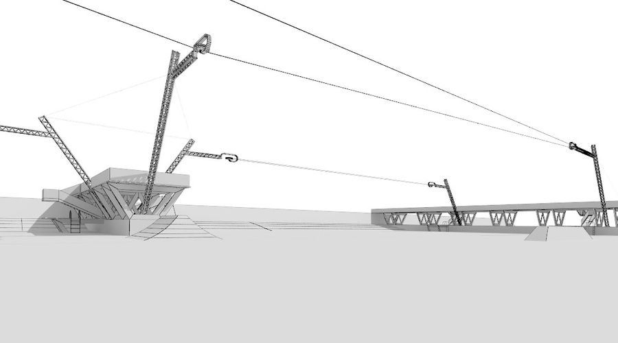 wakeboard station royalty-free 3d model - Preview no. 14
