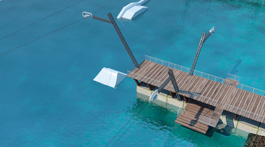 wakeboard station royalty-free 3d model - Preview no. 5