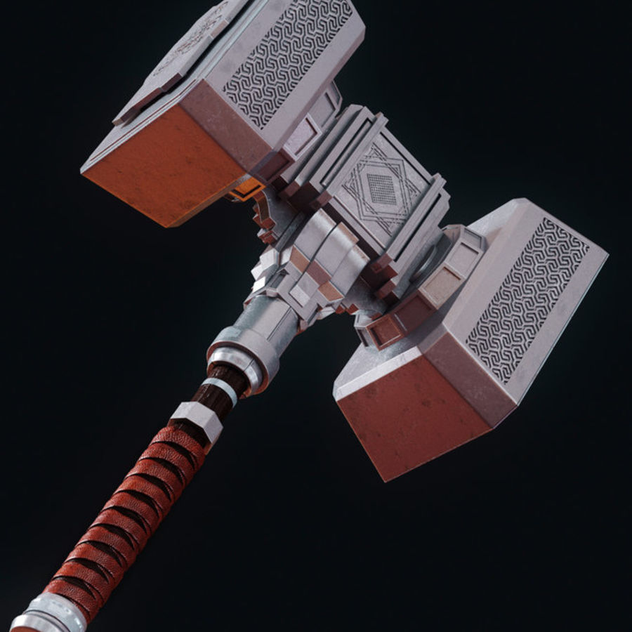 Hammer royalty-free 3d model - Preview no. 3