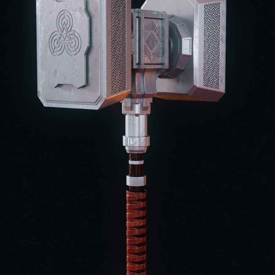 Hammer royalty-free 3d model - Preview no. 4