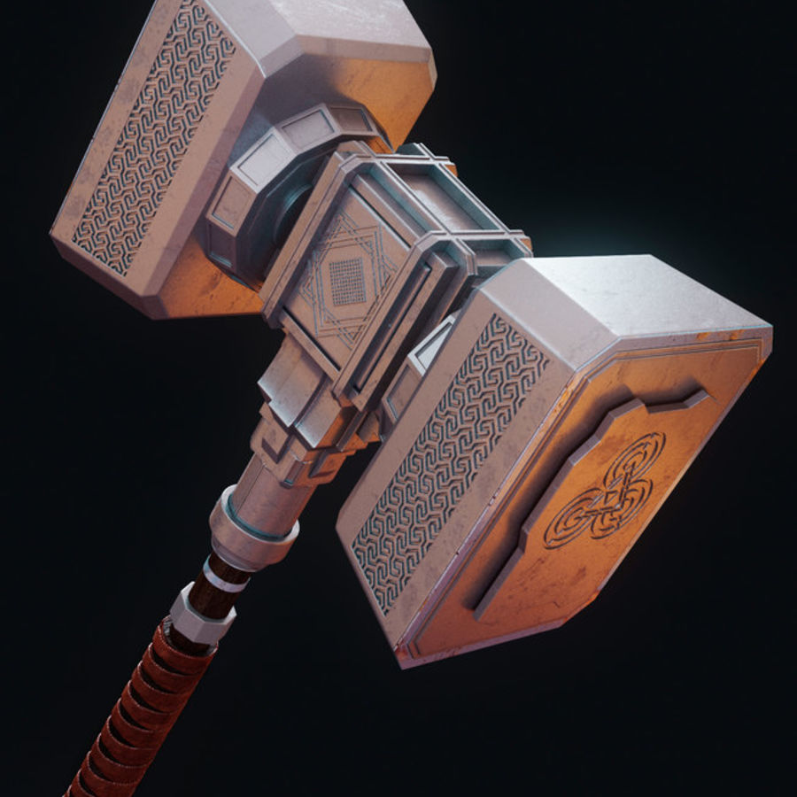 Hammer royalty-free 3d model - Preview no. 1