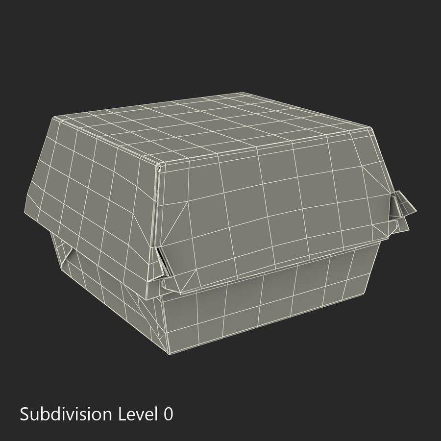 Burger Box Generic 3D model royalty-free 3d model - Preview no. 15