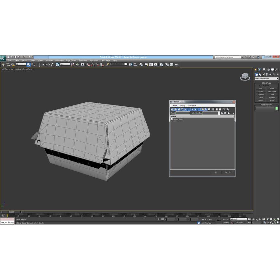 Burger Box Generic 3D model royalty-free 3d model - Preview no. 19