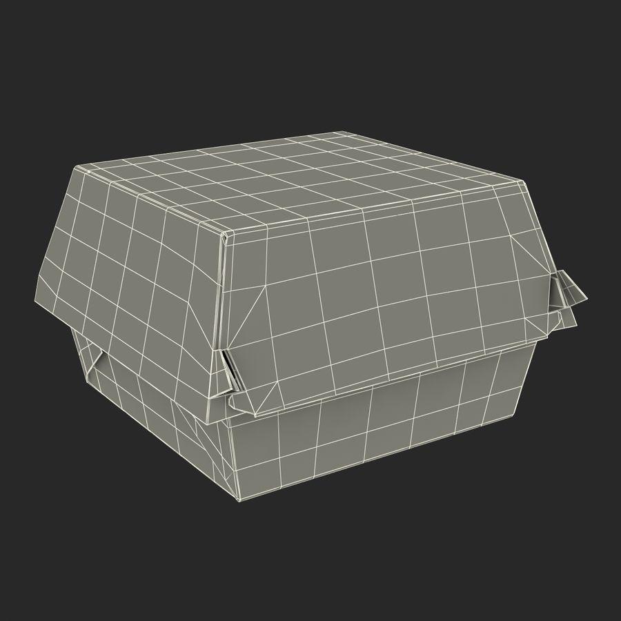 Burger Box Generic 3D model royalty-free 3d model - Preview no. 20