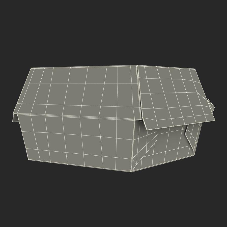 Burger Box Generic 3D model royalty-free 3d model - Preview no. 21