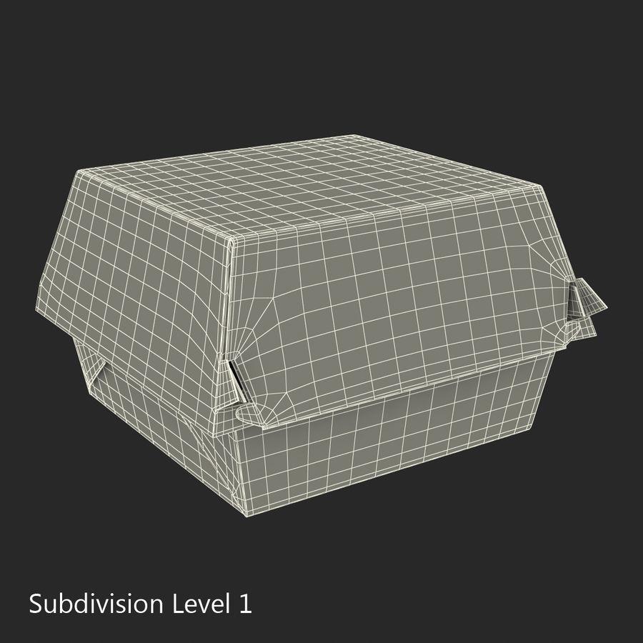 Burger Box Generic 3D model royalty-free 3d model - Preview no. 16