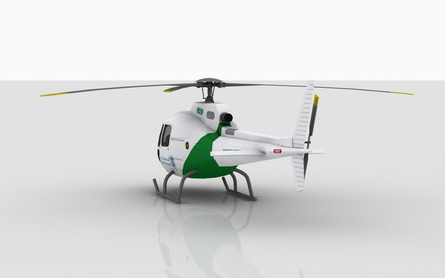 Eurocopter AS350 royalty-free 3d model - Preview no. 5