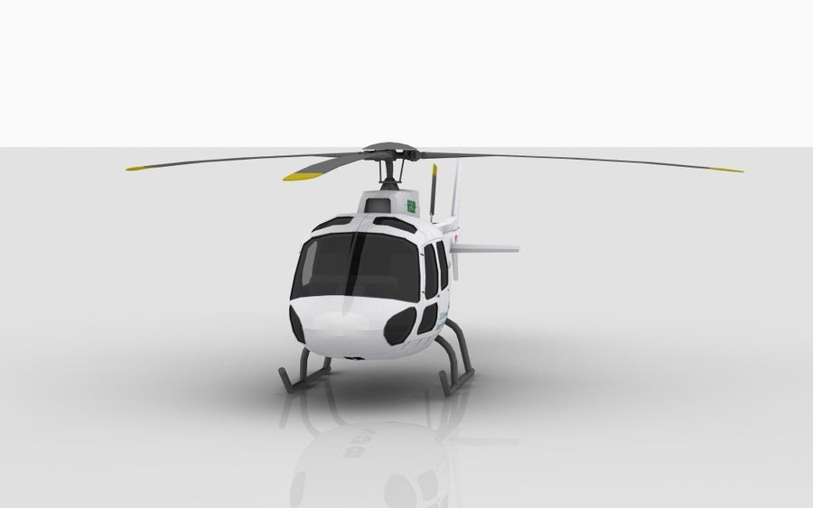 Eurocopter AS350 royalty-free 3d model - Preview no. 2