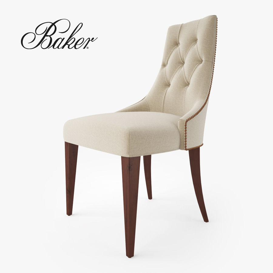 Delicieux Baker Furniture Ritz Dining Chair Royalty Free 3d Model   Preview No. 1