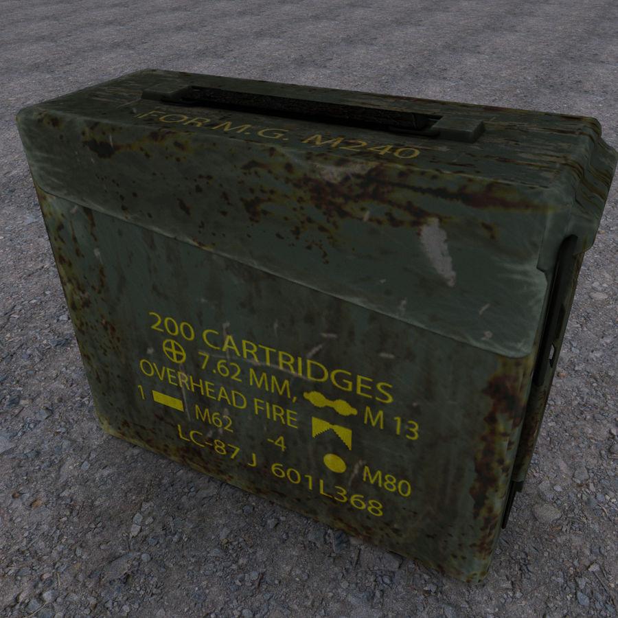 Boîte à munitions militaire royalty-free 3d model - Preview no. 3