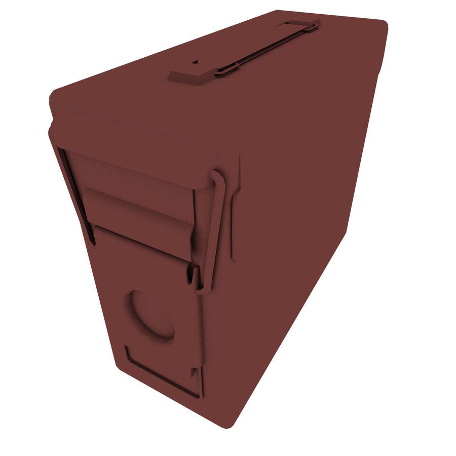 Boîte à munitions militaire royalty-free 3d model - Preview no. 10