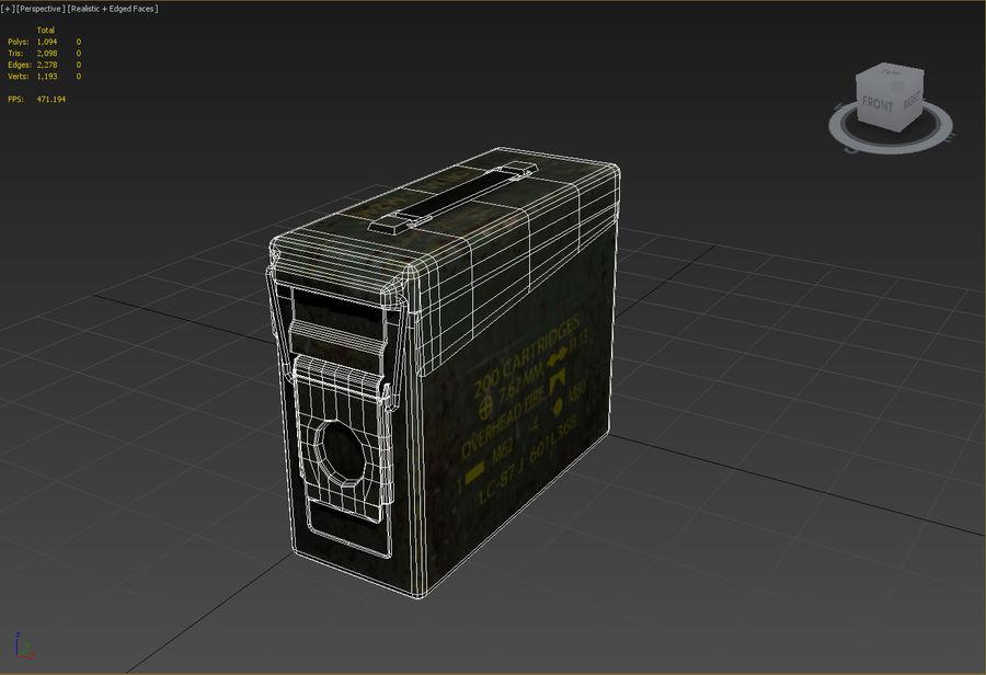 Boîte à munitions militaire royalty-free 3d model - Preview no. 12