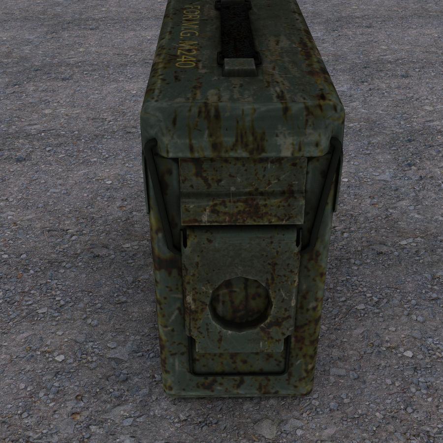 Военный ящик с боеприпасами royalty-free 3d model - Preview no. 2
