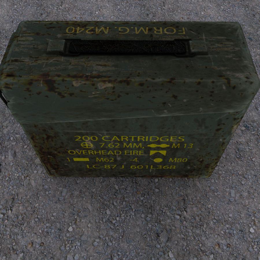 Военный ящик с боеприпасами royalty-free 3d model - Preview no. 5