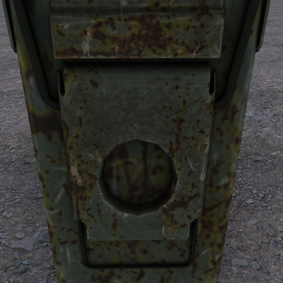 Boîte à munitions militaire royalty-free 3d model - Preview no. 7