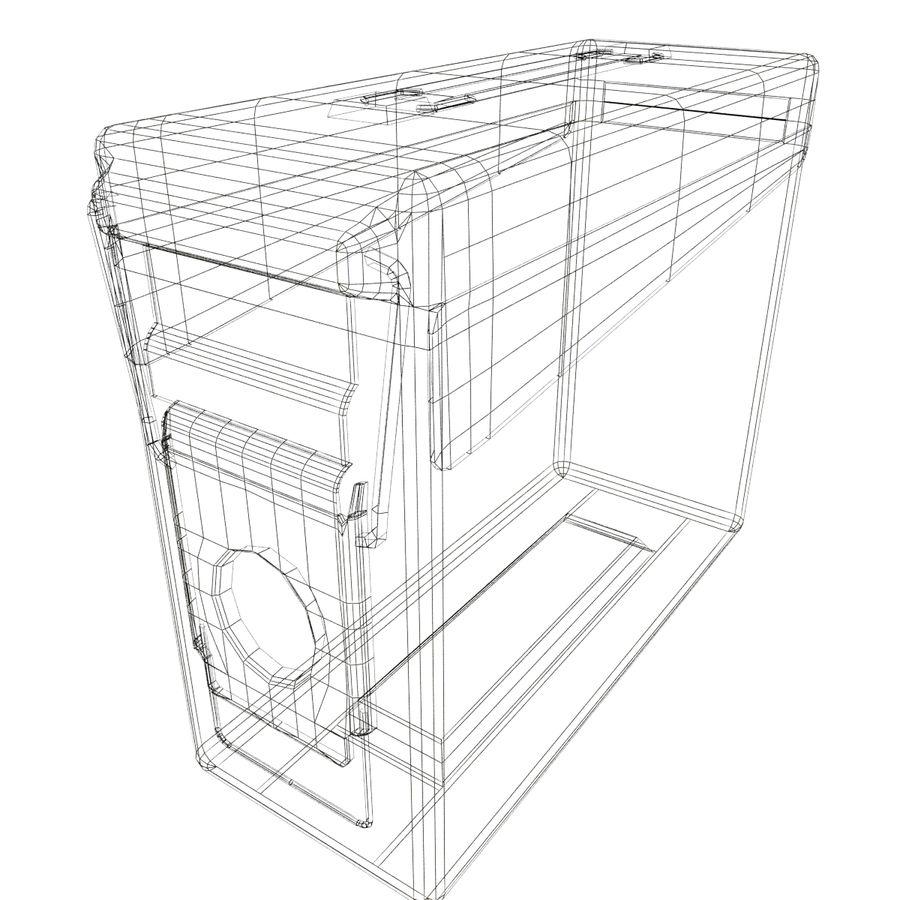 Boîte à munitions militaire royalty-free 3d model - Preview no. 11