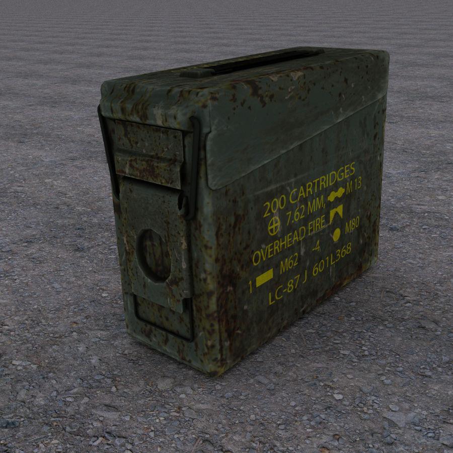 Boîte à munitions militaire royalty-free 3d model - Preview no. 1