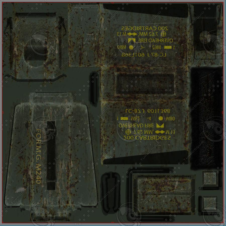 Boîte à munitions militaire royalty-free 3d model - Preview no. 13