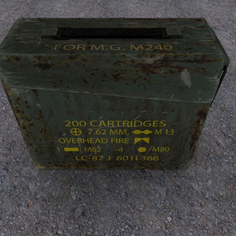 Boîte à munitions militaire royalty-free 3d model - Preview no. 6