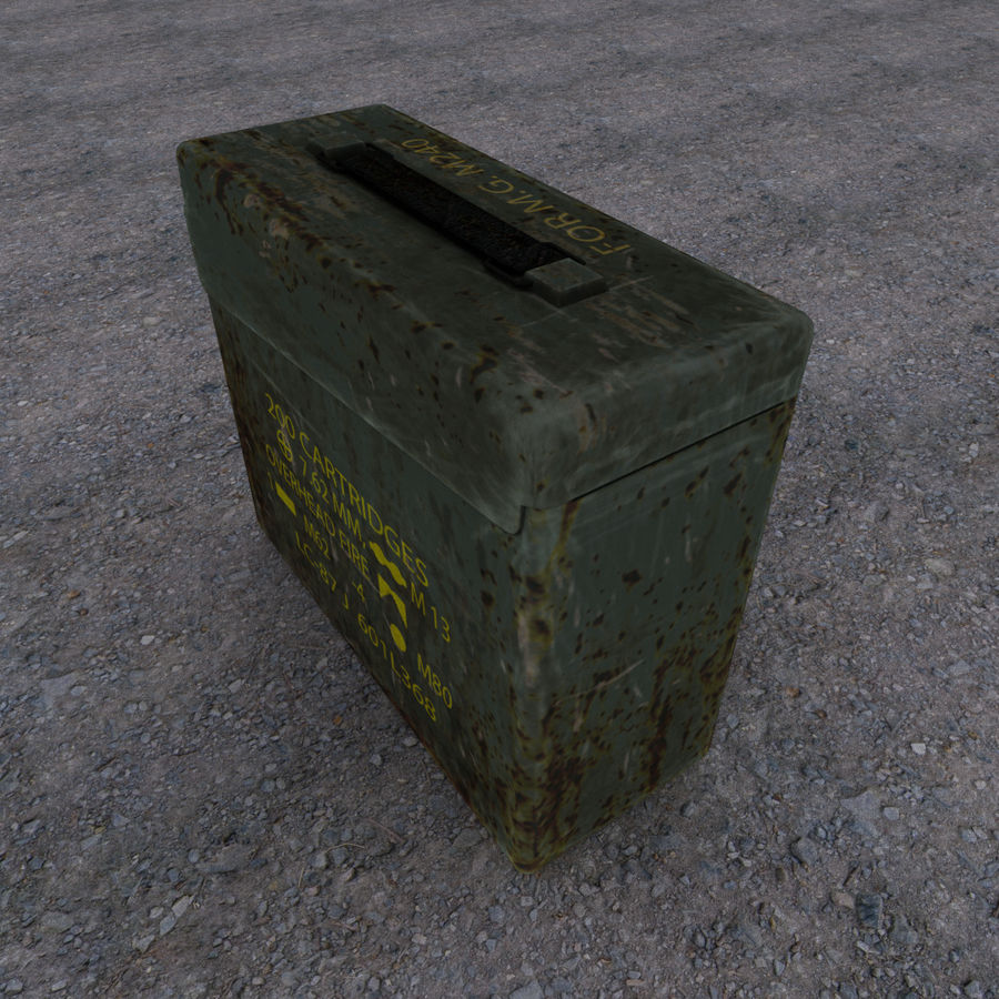 Boîte à munitions militaire royalty-free 3d model - Preview no. 4